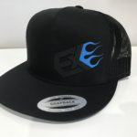 FLAT BRIM BLACK WITH BLUE FLAME